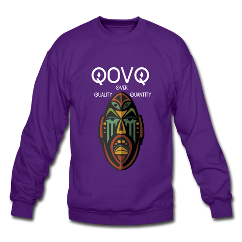 Crewneck Sweatshirt Tribal Mask - purple
