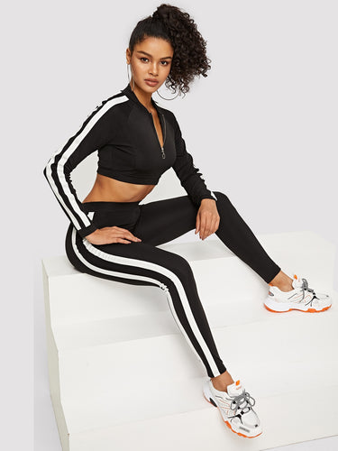 Soko Crop Sweatshirt and Leggings Set