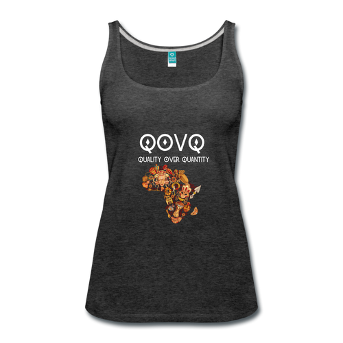 Women's Premium Tank Top - charcoal gray