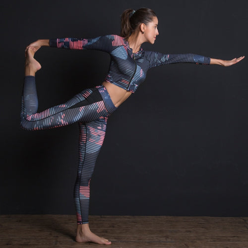 Fitness Suit Leggings Breathable Yoga Set