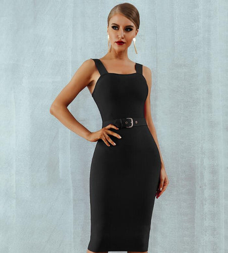 Bandage Dress Women Sexy Midi Bodycon Dress Vestido