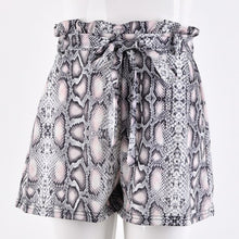 Load image into Gallery viewer, Snake Print Shorts Women High Waist Shorts Skirts