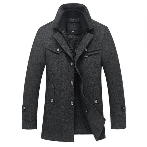 Men Winter Wool Coat Slim Fit Jackets Men Casual Outerwear