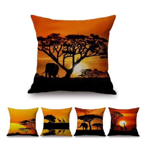 Sunset Decorative Throw Pillow Case Cotton Covers
