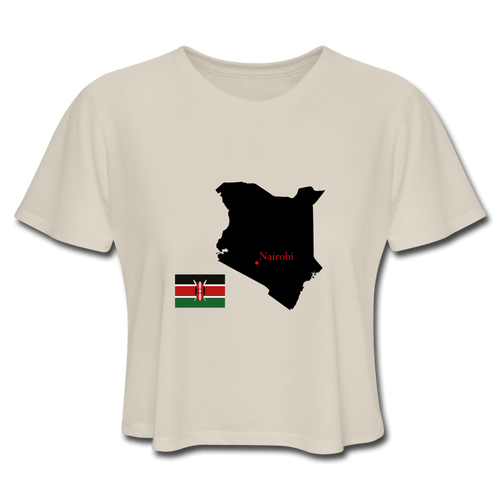 Kenya Map Crop Top - Dust