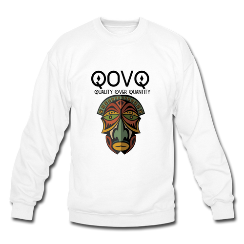 Crewneck Sweatshirt Tribal Mask - white