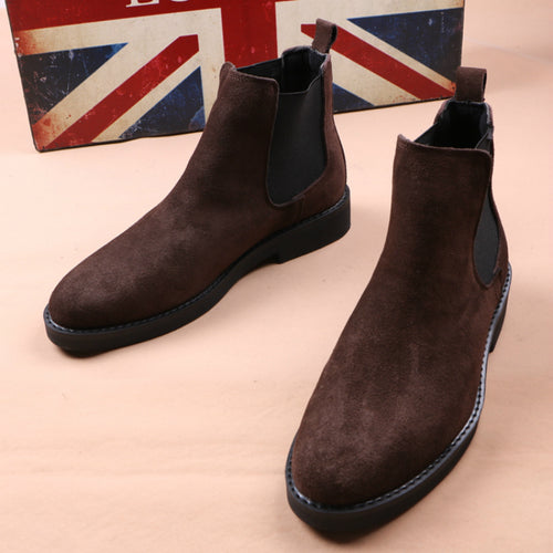British Style Design Soft Leather Chelsea Boots