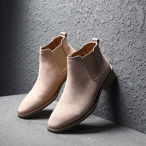 Chelsea Boots 100% Genuine Leather High Quality Vintage Men Boots