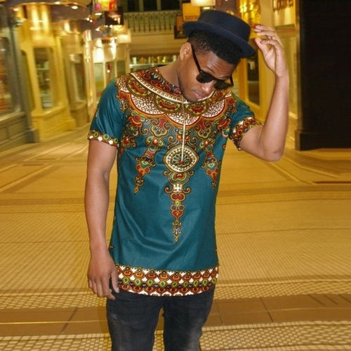 African Tribal Dashiki Shirts With Zipper Hoodies T-shirt