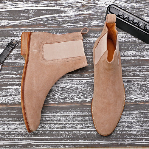 Men's Chelsea Boots Genuine Leather Ankle Autumn Men Winter Boots