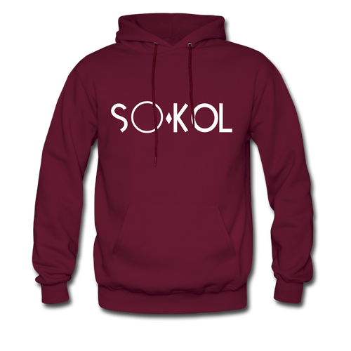 S●'kol original Men's Hoodie so cool hoodies - burgundy