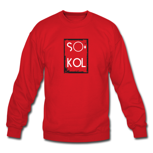 S○°kol Designer Crewneck Sweatshirt Unisex so-cool Sweatshirt - red