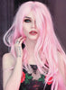 Wavy Pink Lace Front Synthetic Wig LF084