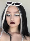 Black Mixed White Star Wars Ysanne Isard Straight Lace Front Synthetic Wig LF1605