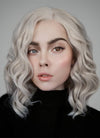 Ash Blonde Wavy Bob Lace Front Synthetic Wig LF831B