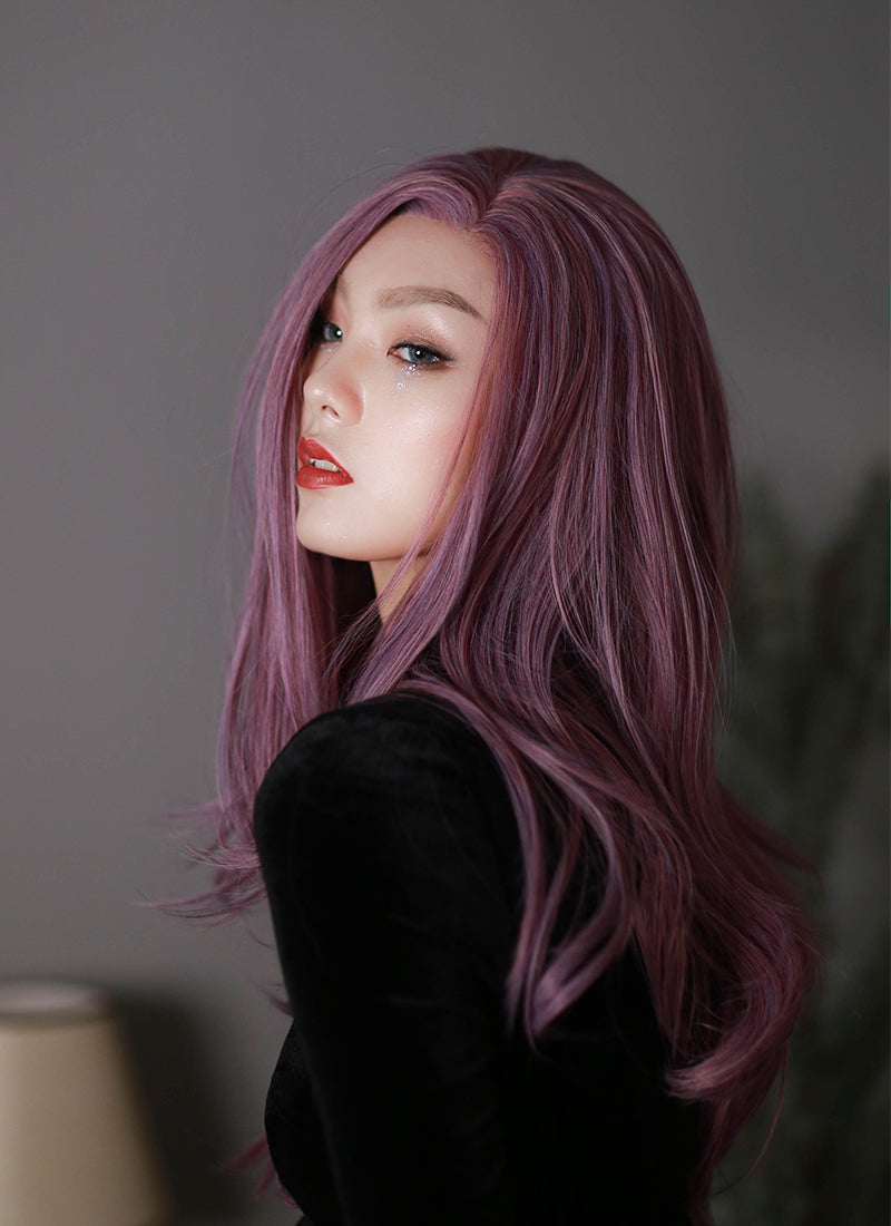 Purple Straight Lace Front Synthetic Wig LF1298