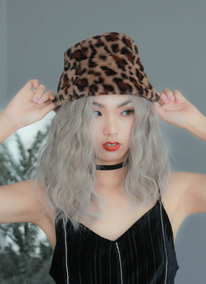 Pastel Grey Wavy Lace Front Synthetic Wig LF3118