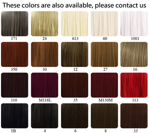 "18"" / 28"" / 39"" Heat Resistant Synthetic Sewn Hair Weft"
