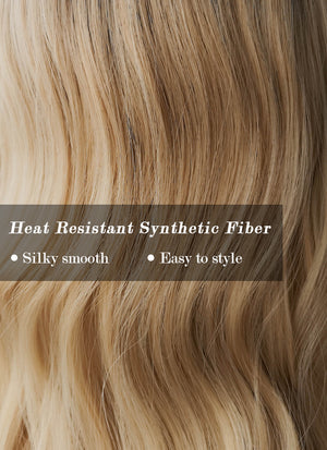 Blonde With Dark Roots Wavy Synthetic Wig NS055