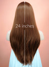 Chestnut Brown Straight Lace Front Synthetic Wig LF005
