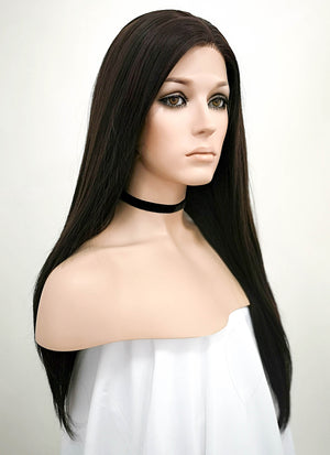 Brunette Straight Lace Front Synthetic Wig LF013