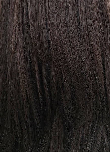 "Selena Gomez's 24"" Straight Black Mixed Brown Lace Front Wig LF013"