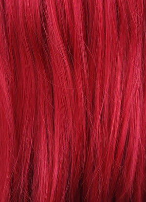 Straight Red Lace Front Synthetic Wig LF025