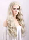 Wavy Light Ash Blonde Lace Front Synthetic Wig LF101