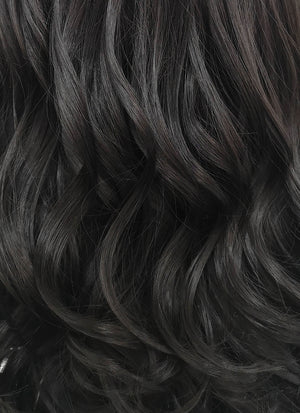 Wavy Natural Black Lace Front Synthetic Wig LF112
