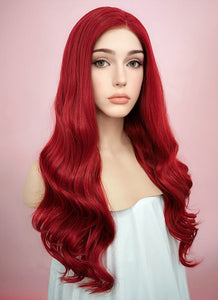 Wavy Red Lace Front Synthetic Wig LF123