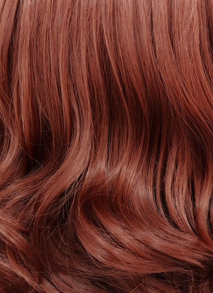 Auburn Wavy Lace Front Synthetic Wig LFB1257