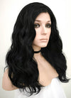 Black Wavy Lace Front Synthetic Wig LF1262