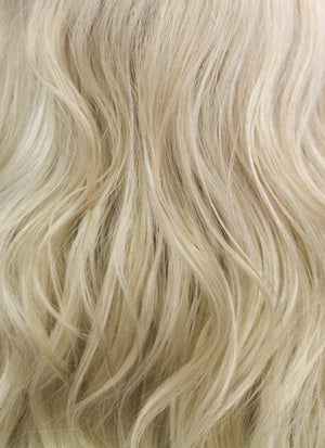 Light Ash Blonde Wavy Lace Front Synthetic Wig LF1263