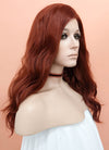 Reddish Brown Wavy Lace Front Synthetic Wig LF1267