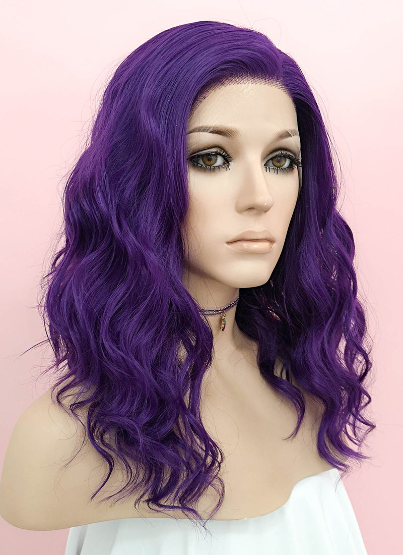 Purple Wavy Lace Front Synthetic Wig LF1288