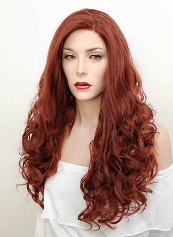 "18"" Long Straight Pink Lace Front Synthetic Hair Wig LF769C"