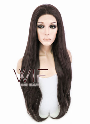 Brunette Straight Lace Front Synthetic Wig LF150E