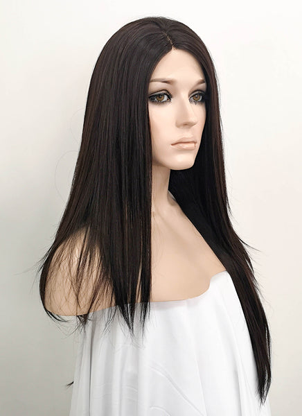 "24"" Long Straight Black Lace Front Wig LF151 Inspired by Angelina Jolie"