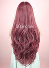 Wavy Two Tone Pinkish Red Lace Front Synthetic Wig LF1525