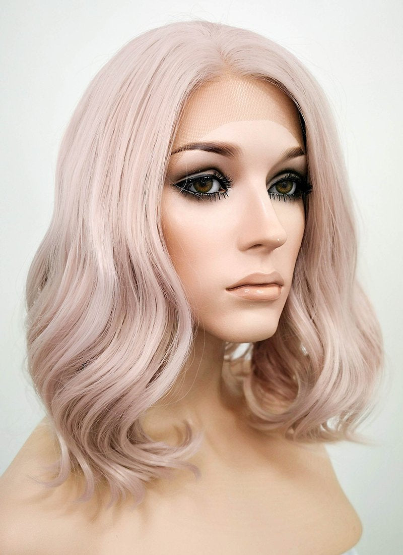 Wavy Pinkish Grey Bob Lace Wig CLF1537C (Customisable)