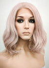 Pastel Pale Plum Wavy Bob Lace Front Synthetic Wig LF1537C
