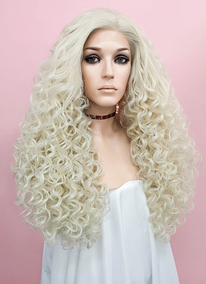 Spiral Curly Light Blonde Lace Front Synthetic Wig LF1540B