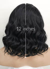 Black Wavy Bob Lace Front Synthetic Wig LF1734