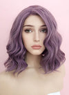 Purple Wavy Bob Lace Front Synthetic Wig LF1735