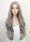 Pastel Grey Wavy Lace Front Synthetic Wig LF1767