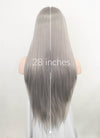 Pastel Grey Straight Lace Front Synthetic Wig LF1768