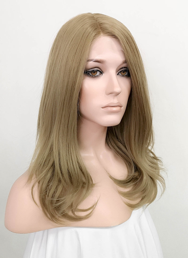 Ash Blonde Wavy Lace Front Synthetic Wig LF1772