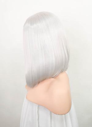 White Straight Bob Lace Front Synthetic Wig LF1780