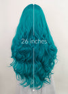 Turquoise Blue Wavy Lace Front Synthetic Wig LF1792