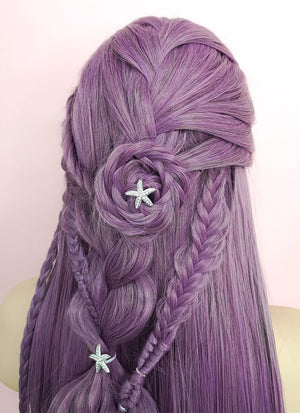 Purple Wavy Lace Front Synthetic Wig LF2051